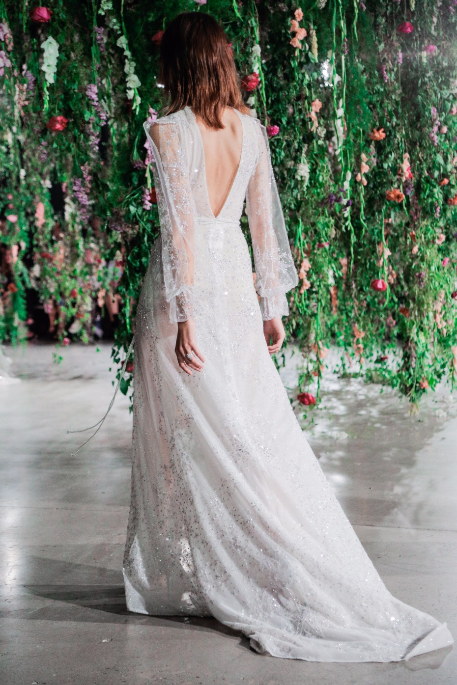 back showcasing long sleeve GALA Collection No IV Gown