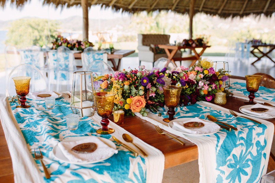 Colorful table details