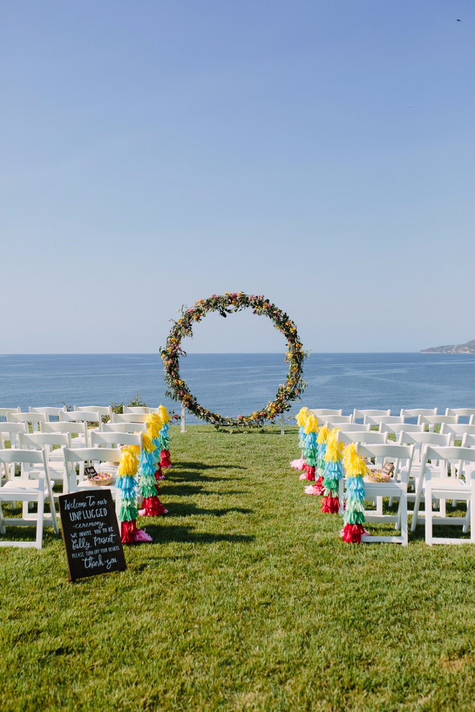 Circle ceremony arch on the coast of Mexico