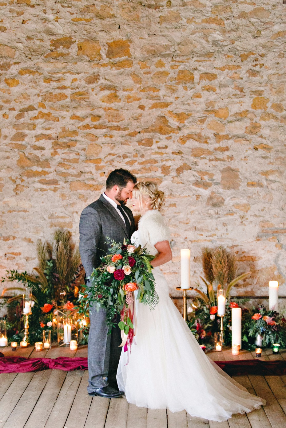 wedding ceremony with fall inspirations