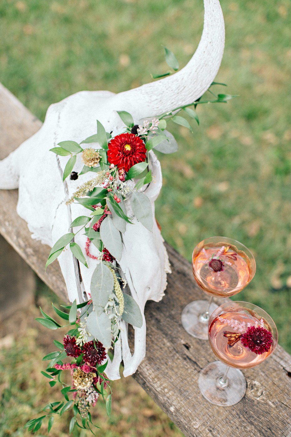 sparkling rosé for your rustic fall wedding