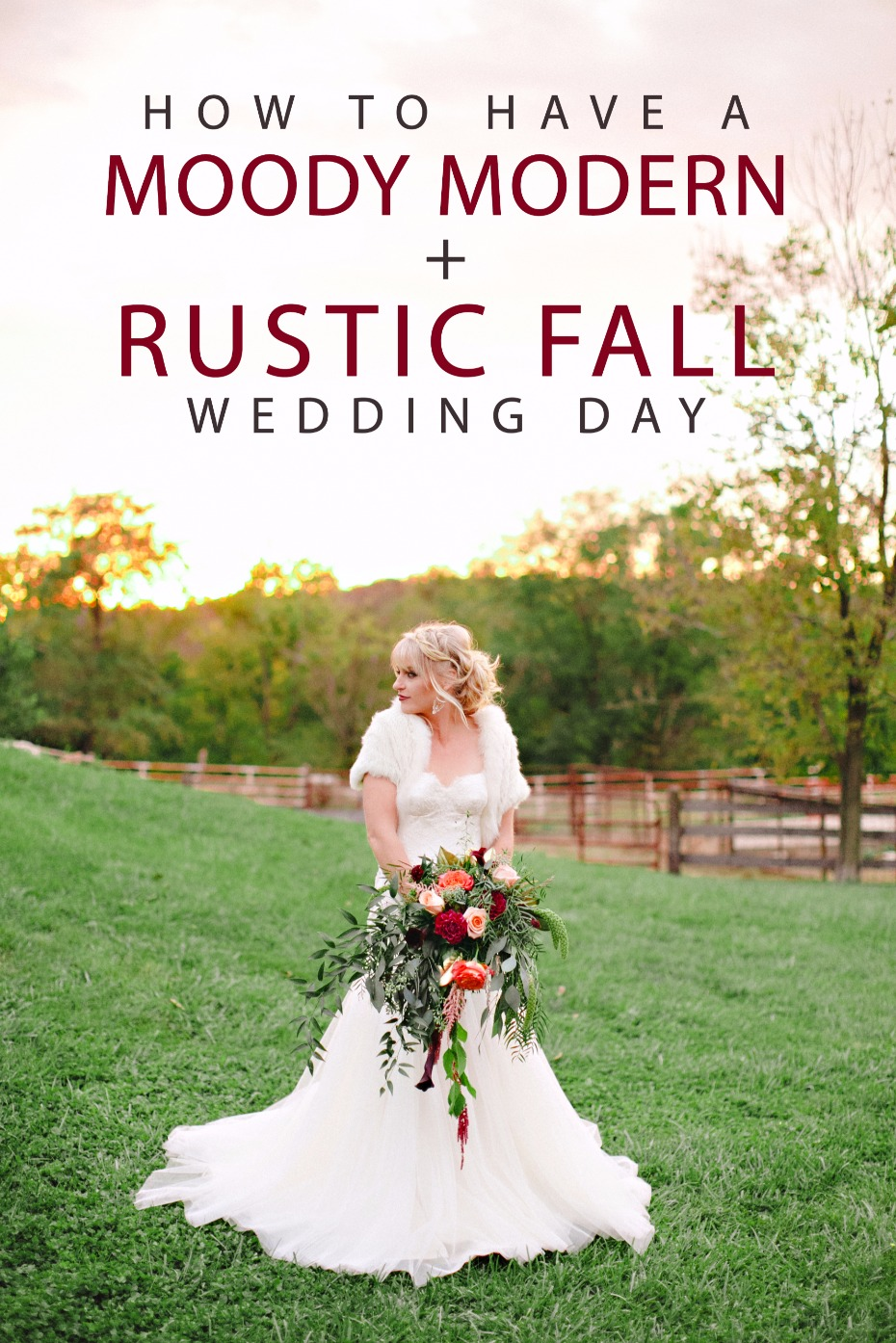 how to have a moody modern rustic fall wedding day