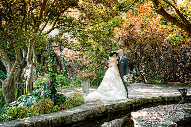Portrait in the gardens at FEAST at Round Hill, Hudson Valley wedding venue and caterer. Photo by Windau Photography.