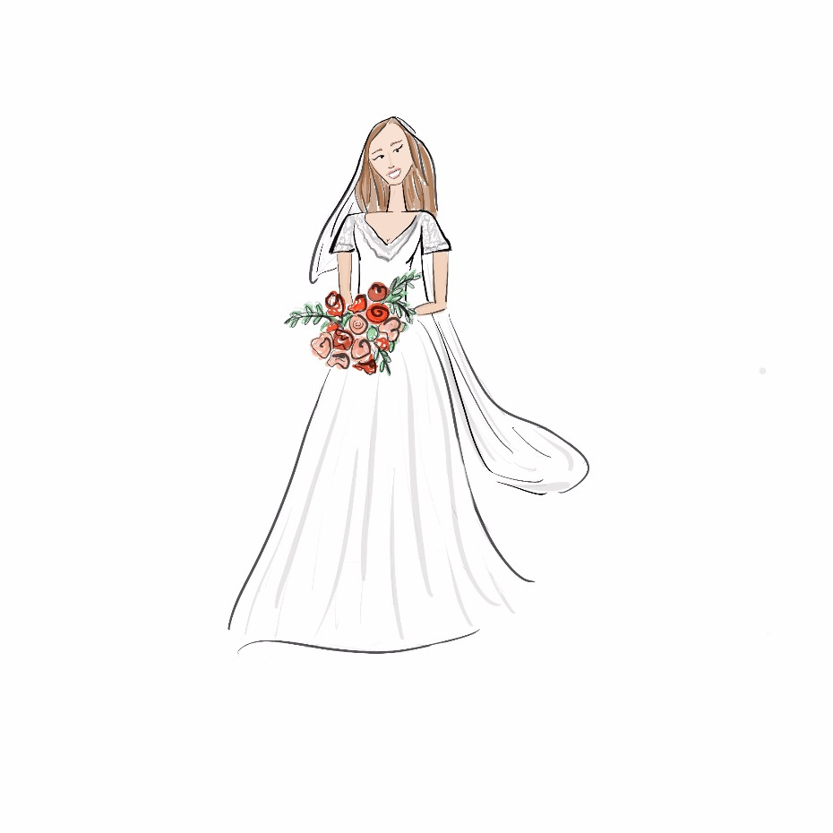 Eliza Gwendalyn Bridal Portrait Sketch