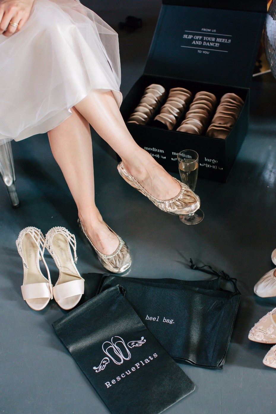Rescue Flats will rescue your wedding guests feet and save the party