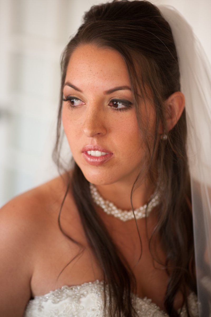 A quiet moment of reflection for this gorgeous bride, just before she walks down the aisle.