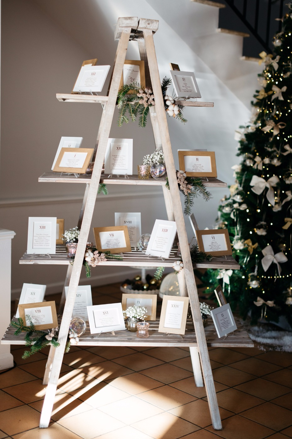 Cute ladder seating chart idea