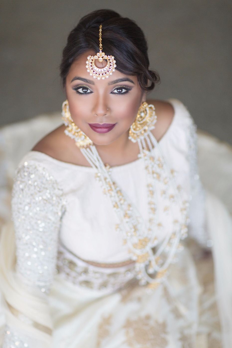 Flawless bridal makeup