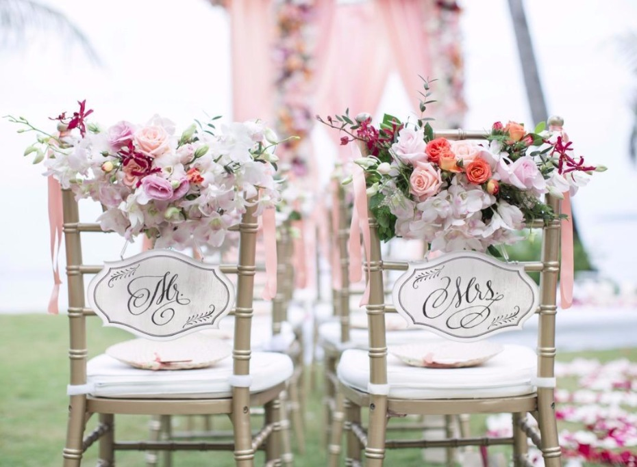 charming Mr. and Mrs. Chair signs