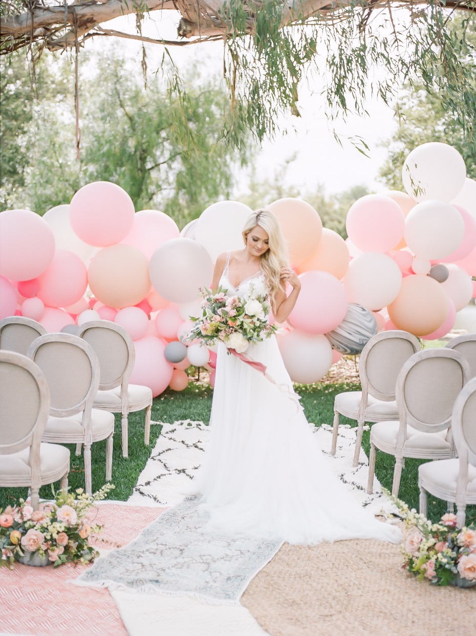 Balloon ceremony backdrop idea