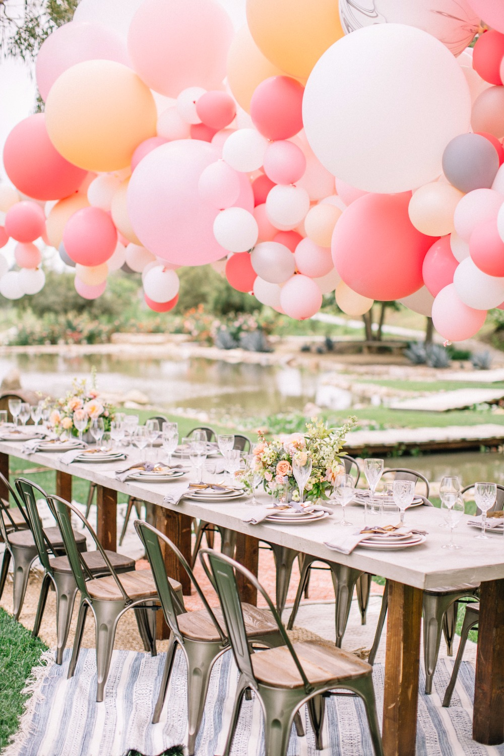 A Chic Garden Wedding Filled with Balloons!