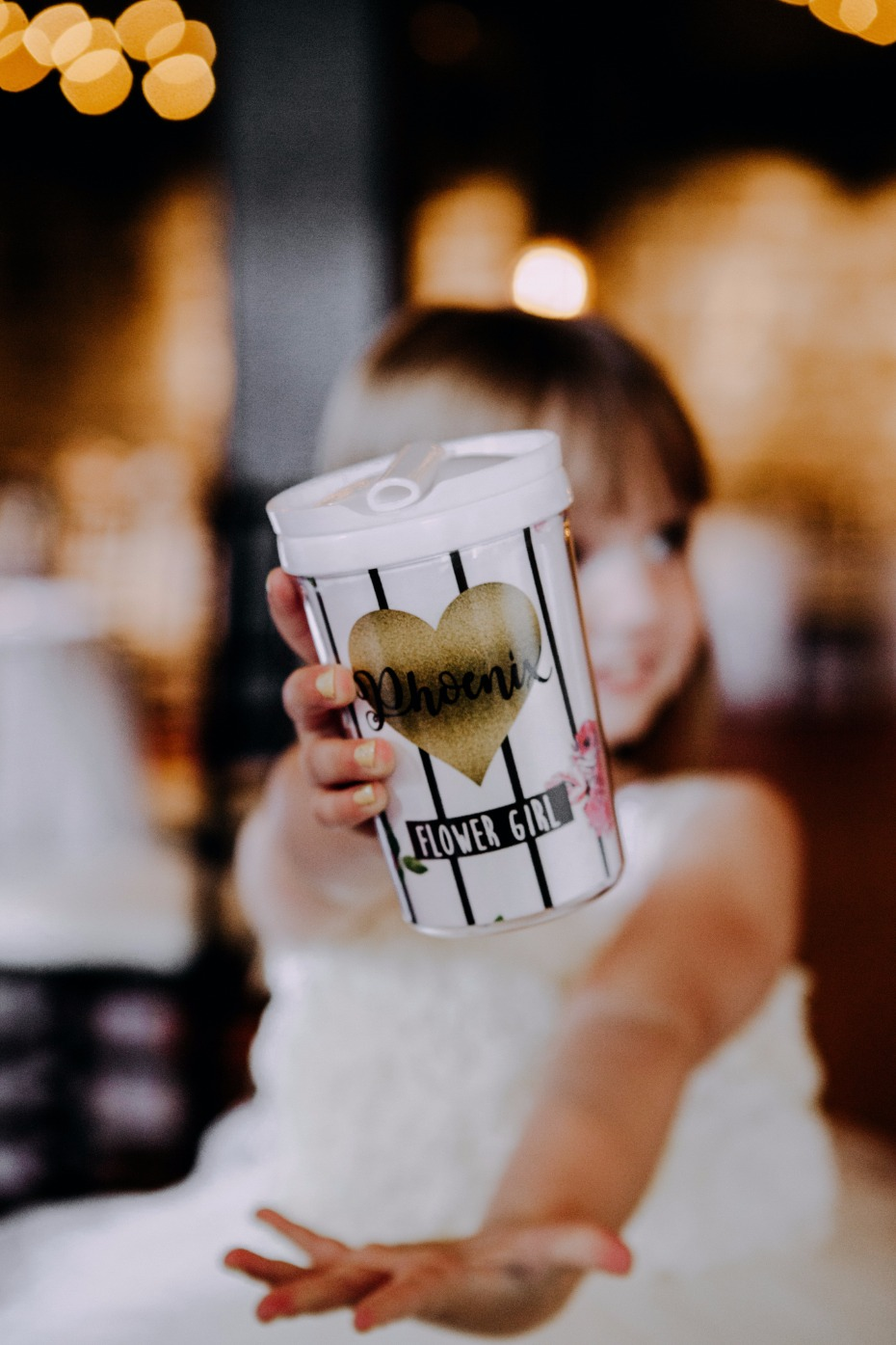 Custom cup for the flower girls