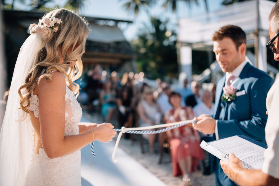 tying the knot literally with this cute nautical wedding tradition