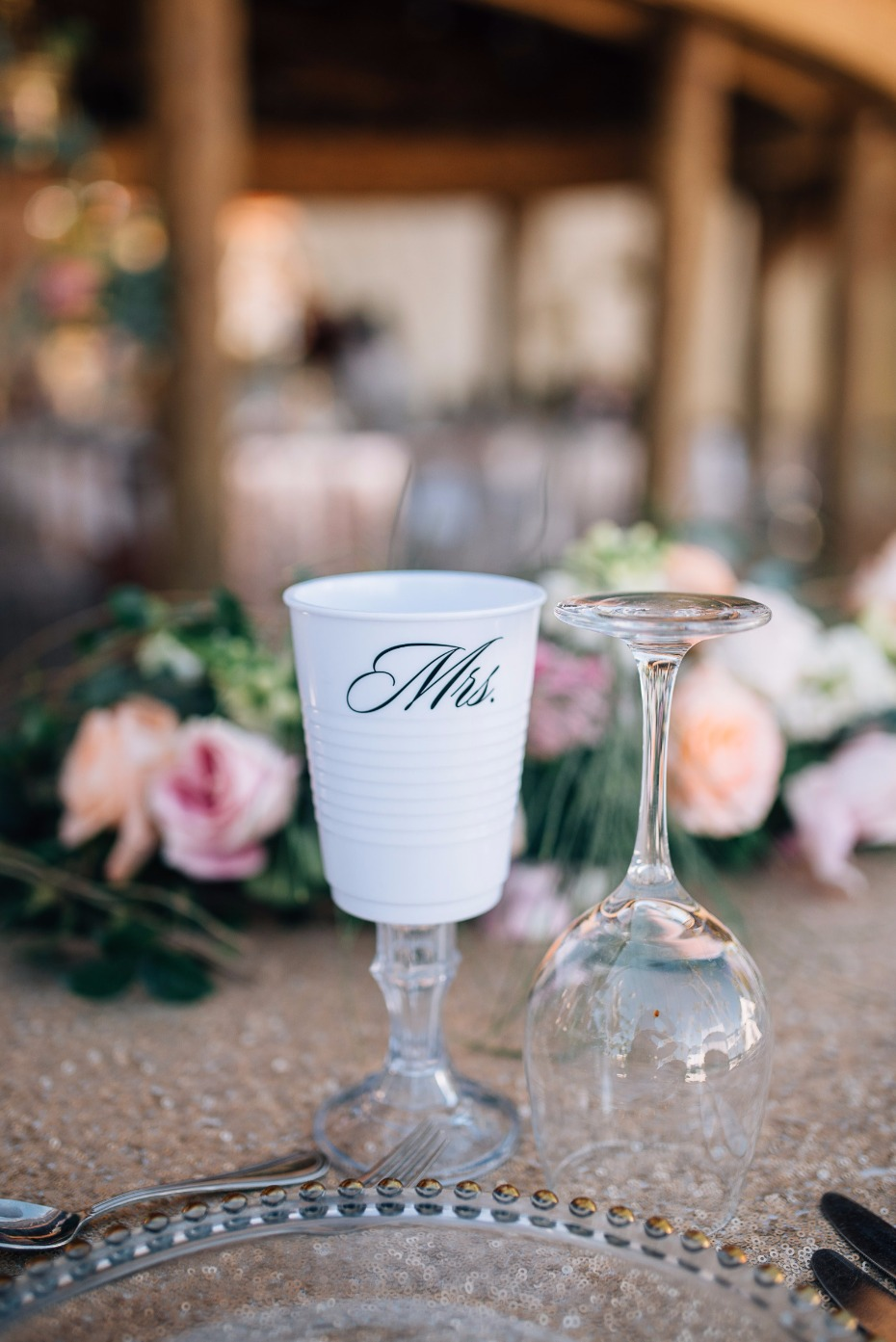 mrs white solo cup goblet for the bride