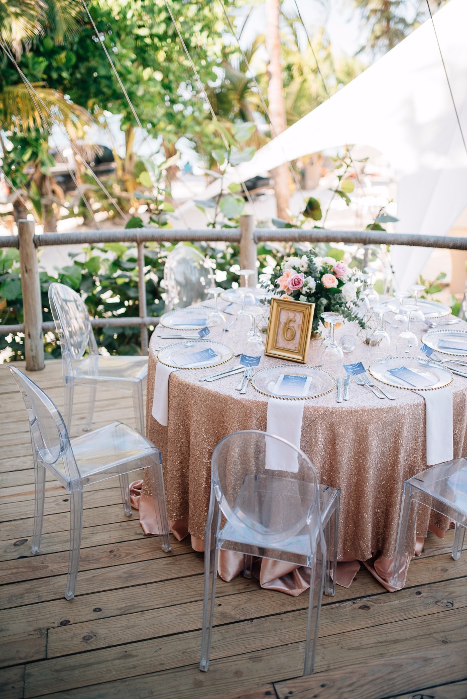 blush and gold modern chic wedding table decor