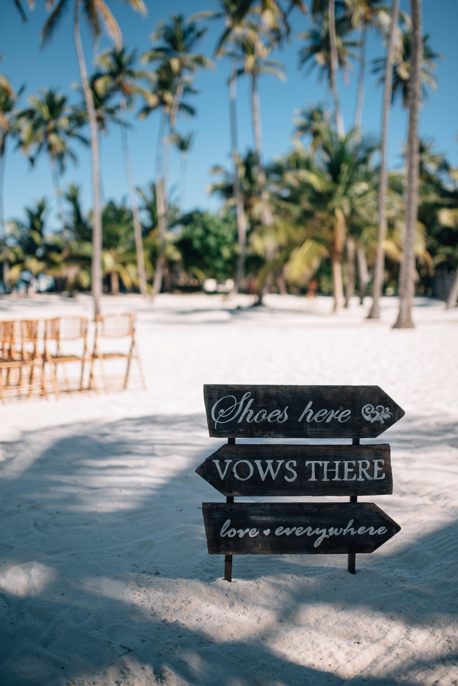 Shoes and vows cute beach wedding sign