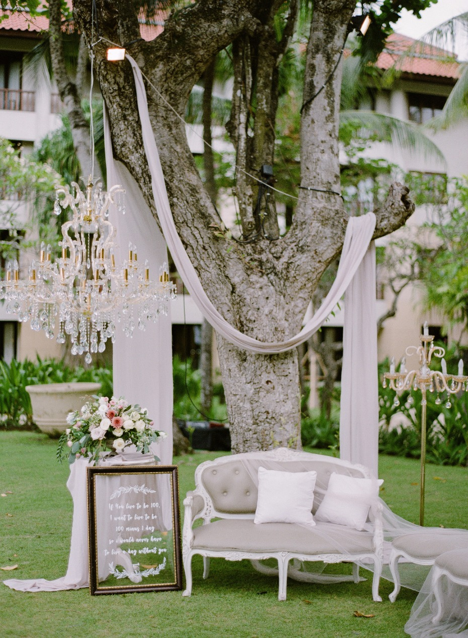 chic French style wedding photo booth