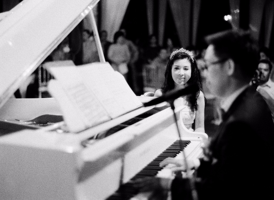 live music for the bride from the groom