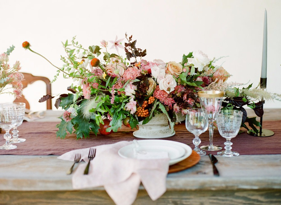 oversized wedding centerpiece for your Fall wedding reception