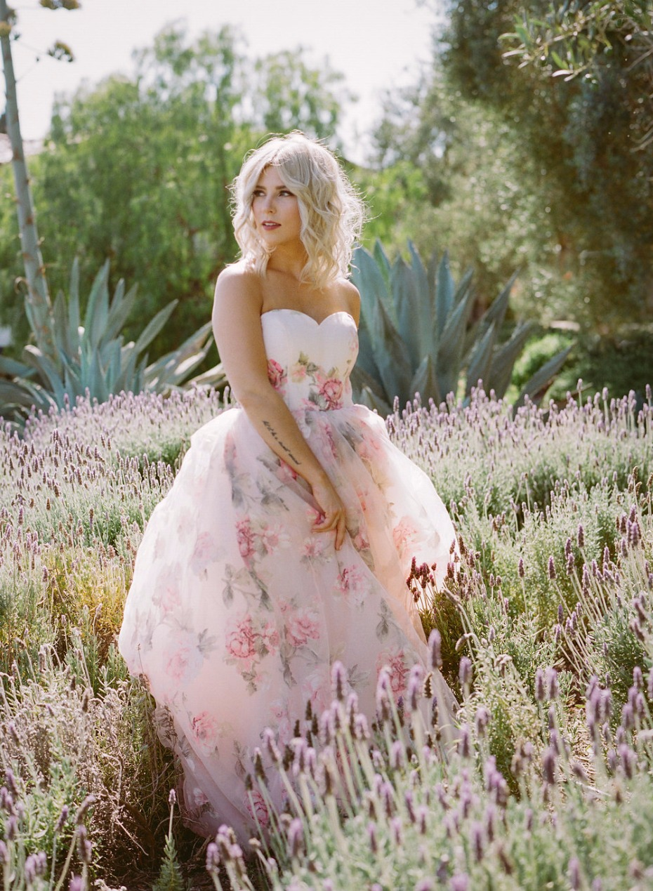 unique floral wedding dress we cannot get enough of from Weekend Wedding Dress