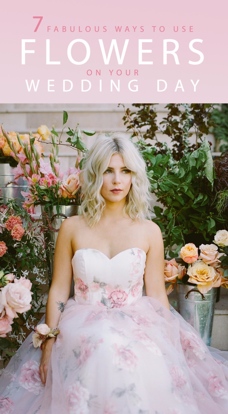 7 fabulous ways to use flowers on your wedding day