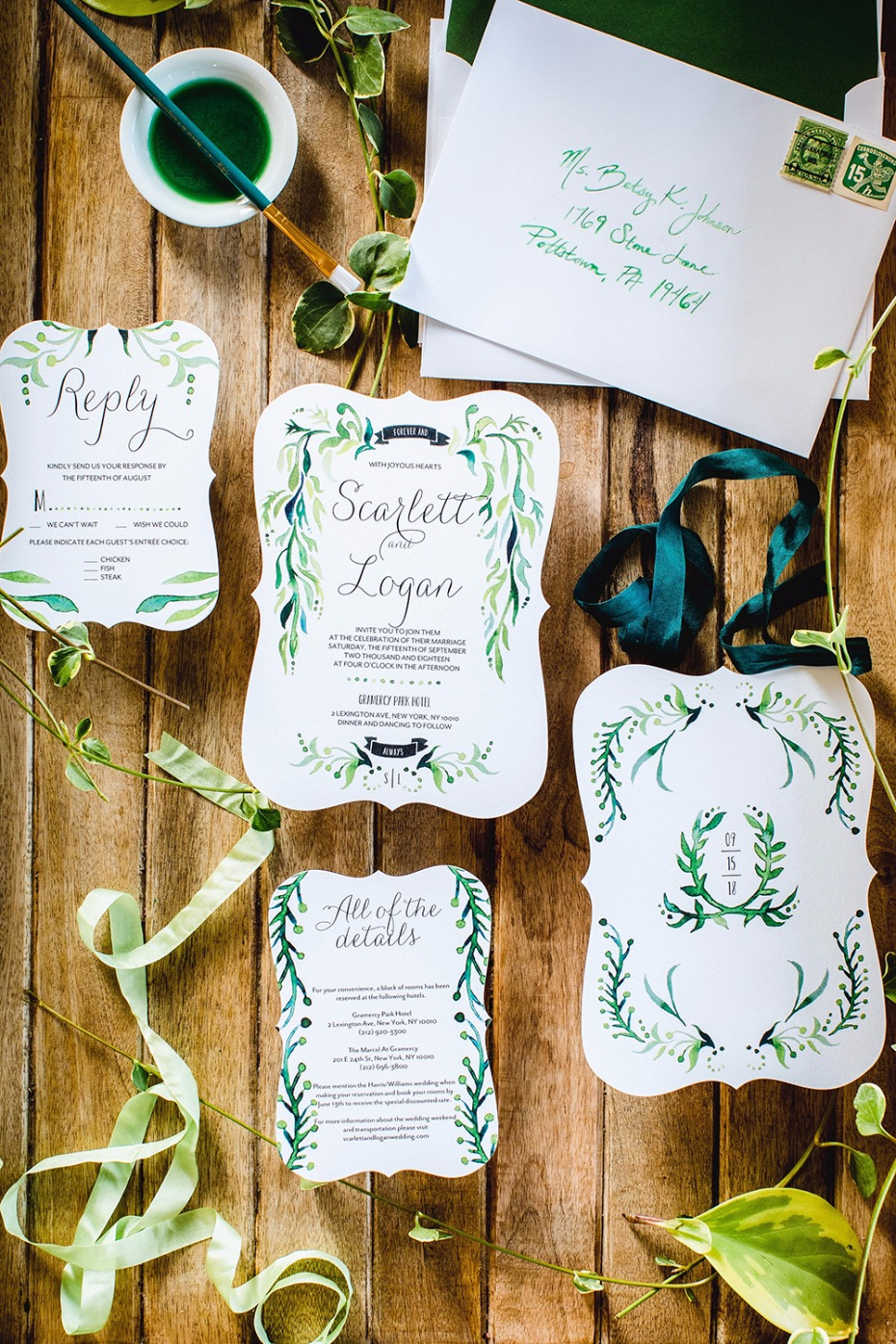 watercolor wedding invites from Shutterfly