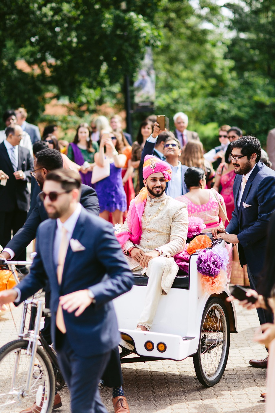 grooms arrival - the baraat