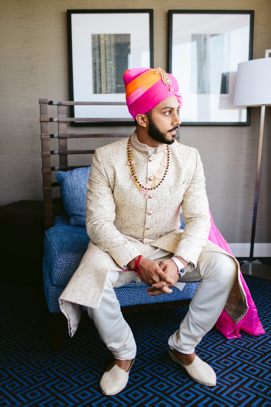 Handsome traditional Indian groom