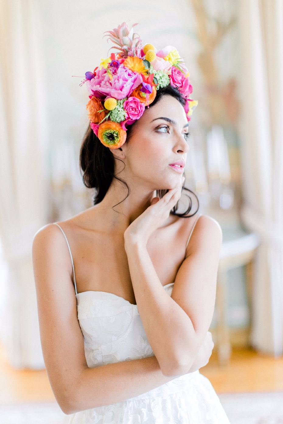 tropical floral bridal headpiece