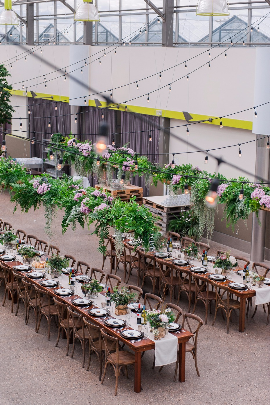 Greenery-filled green house wedding