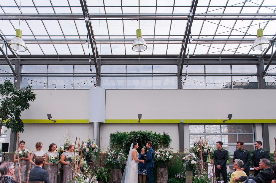Beautiful greenhouse ceremony