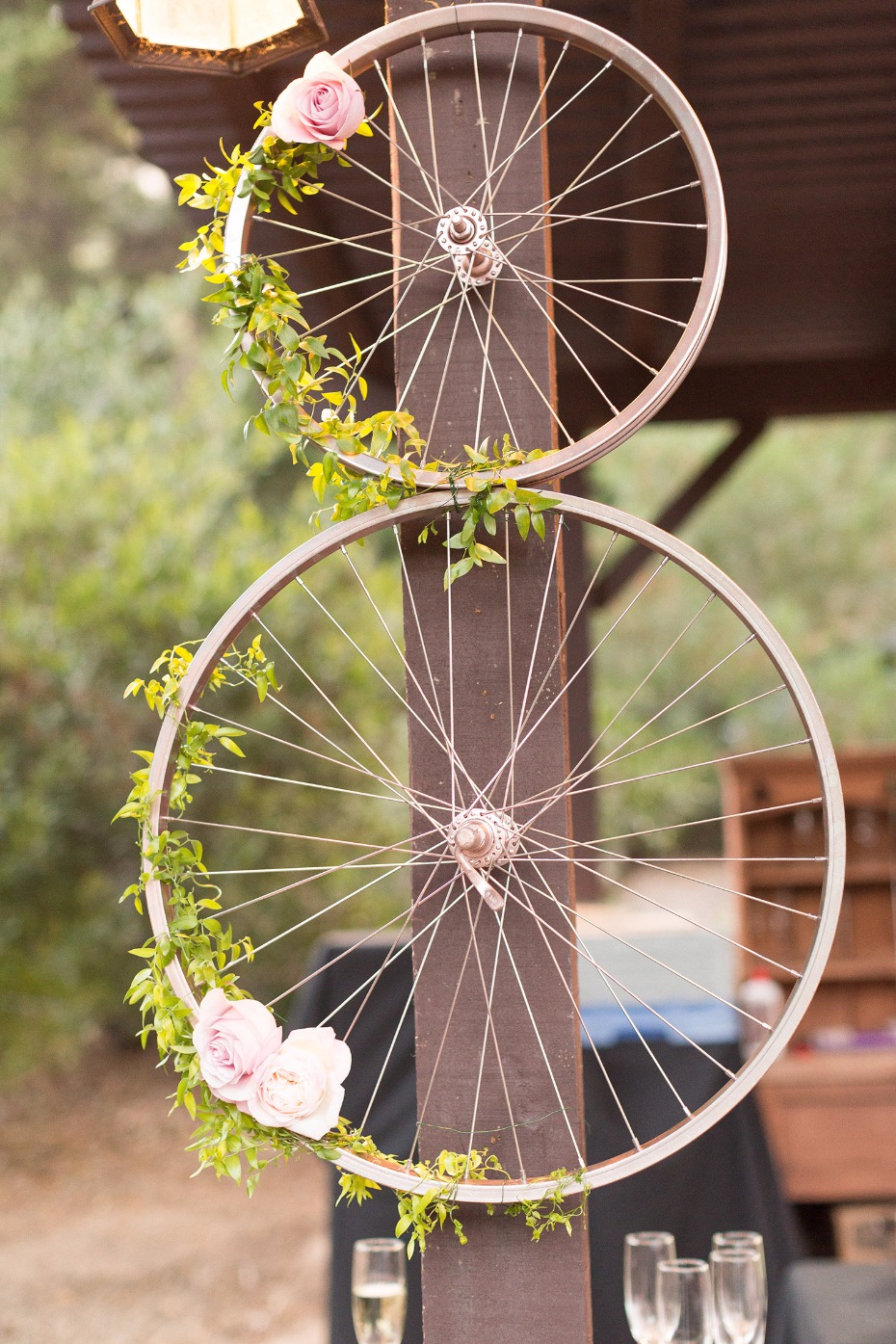 Rose gold wheel decor