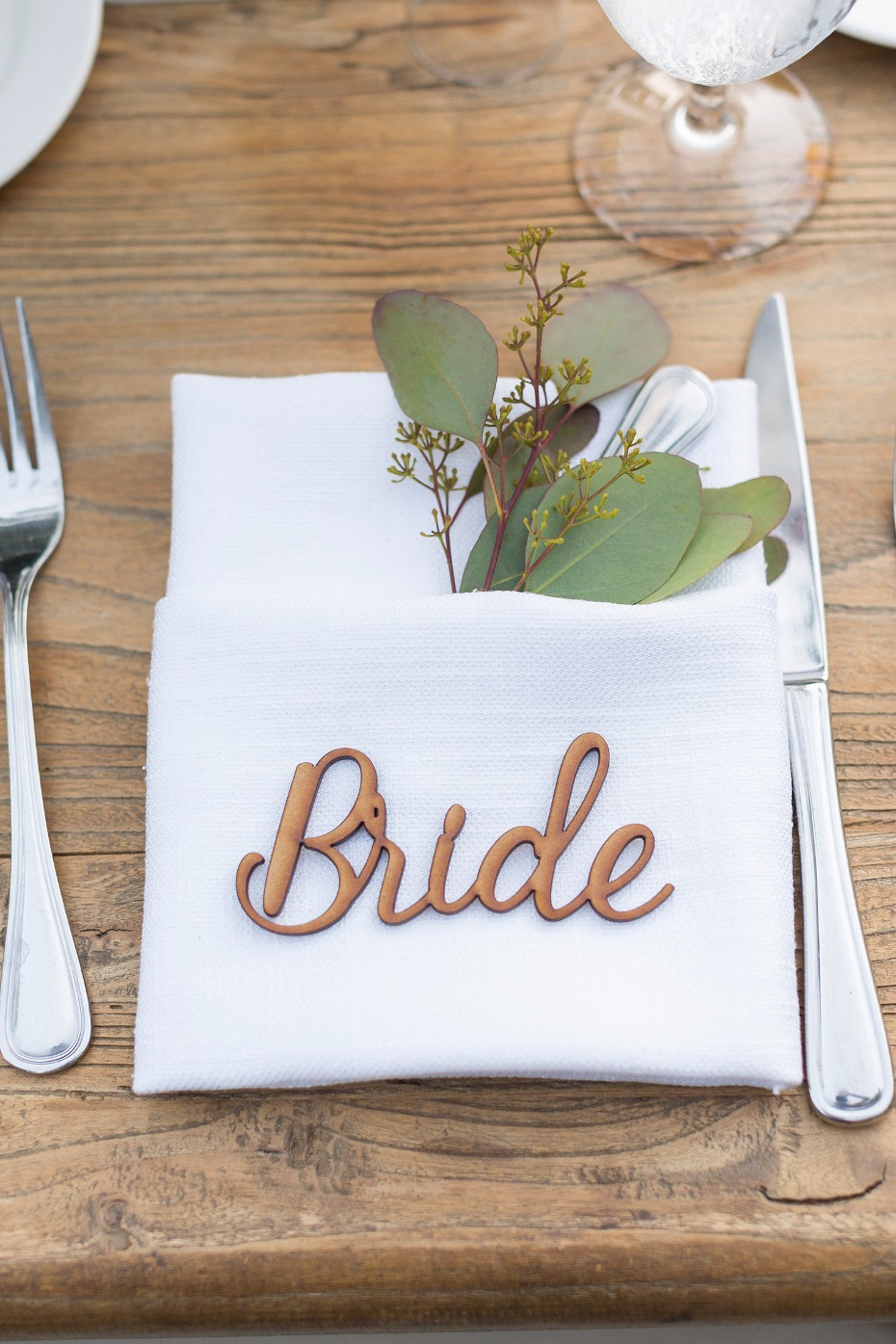 Bride place card idea