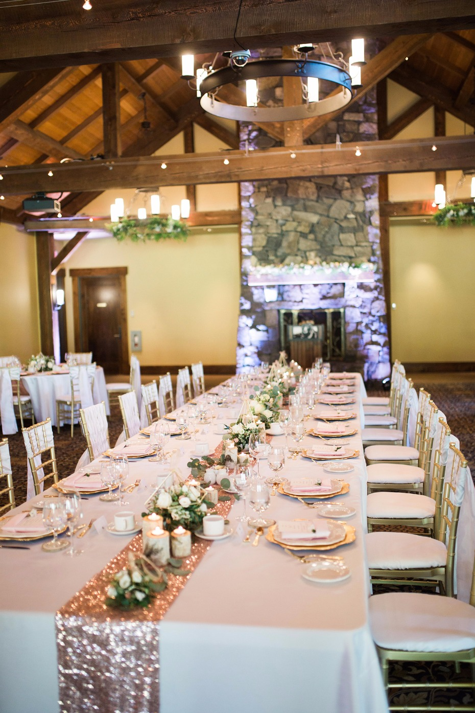 Rustic chic reception