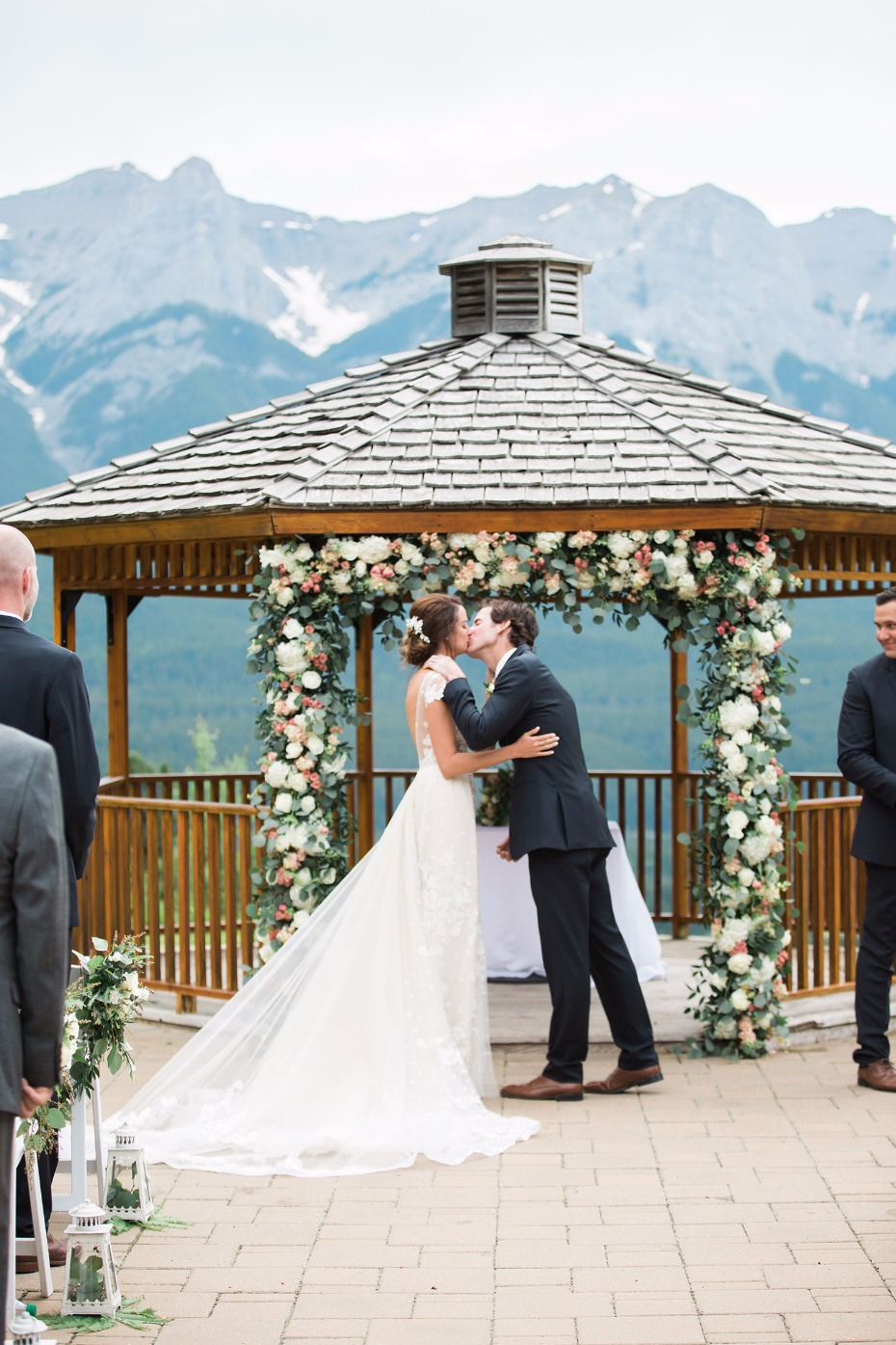 A gazebo wedding in the Canadian Rockies