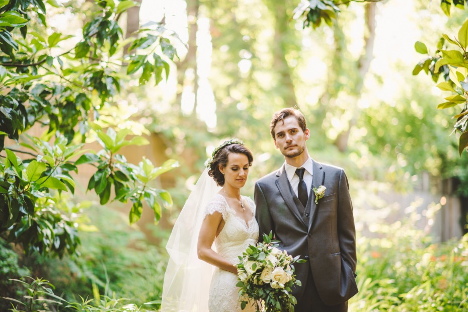 summer wedding bride and groom portraits