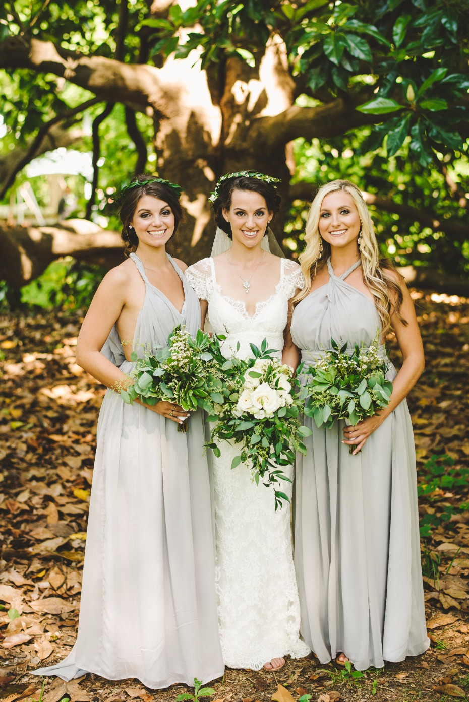 soft grey bridesmaids dresses from Renz Rags