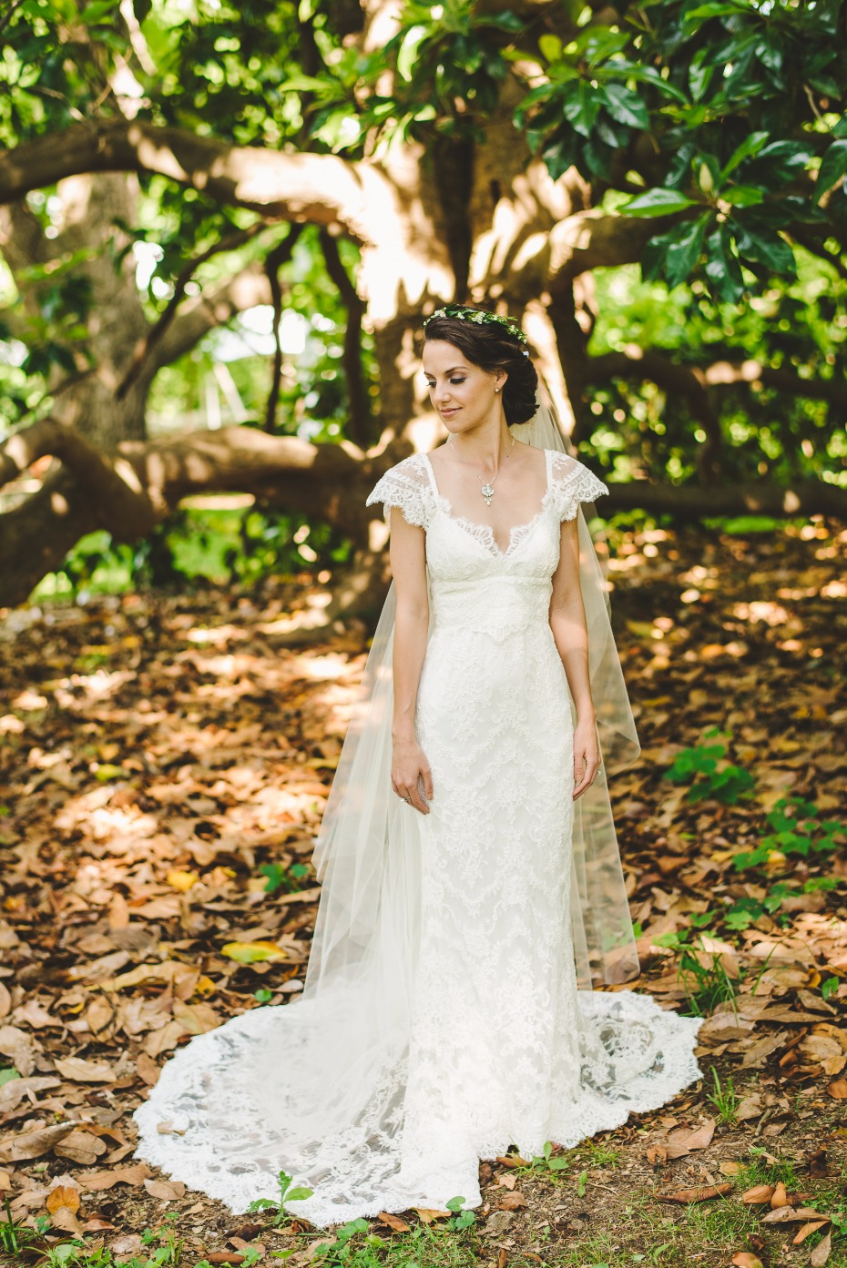 elegant wedding gown by Anna Campbell Bridal