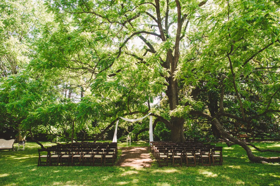 simple and elegant summer garden wedding ceremony