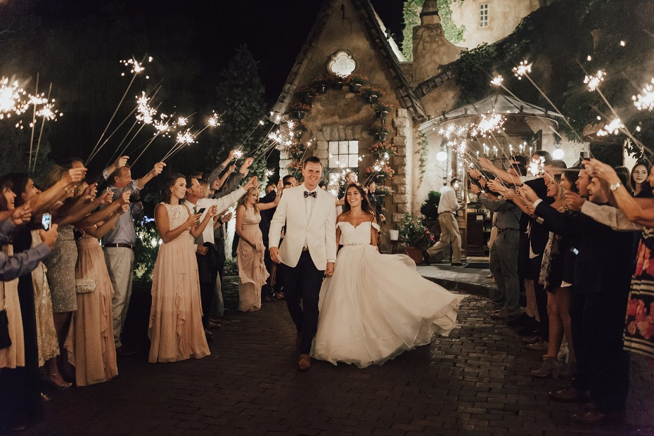 sweet sparkler exit at La Caille