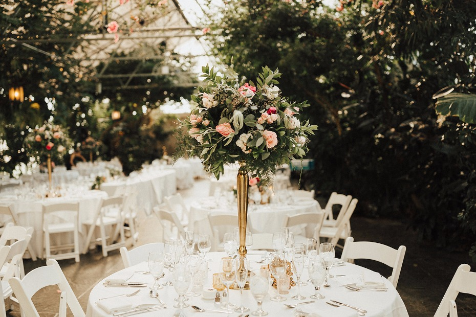 tall and glam floral centerpiece
