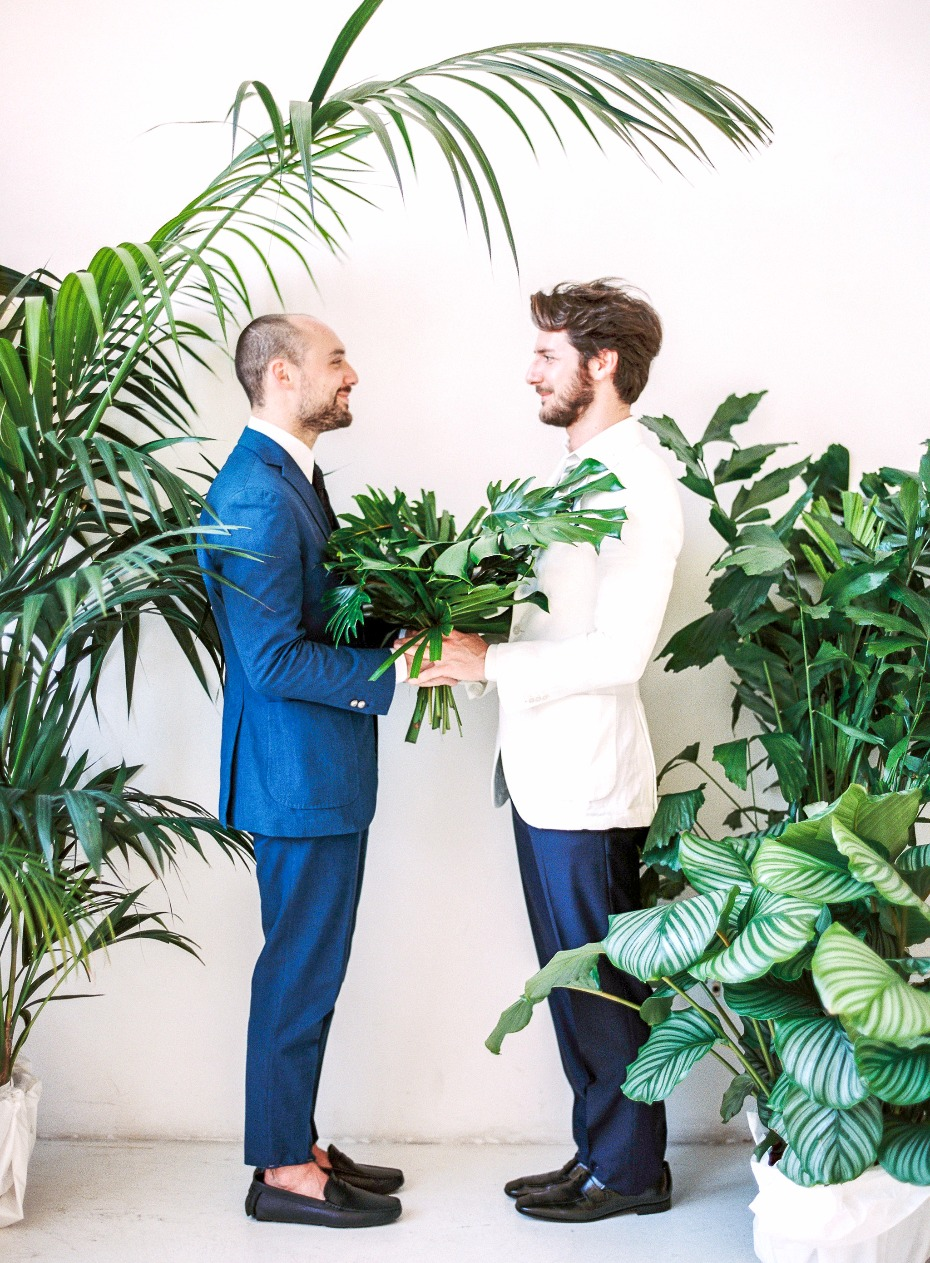 Love Wins Tropical Wedding Inspiration from Spain
