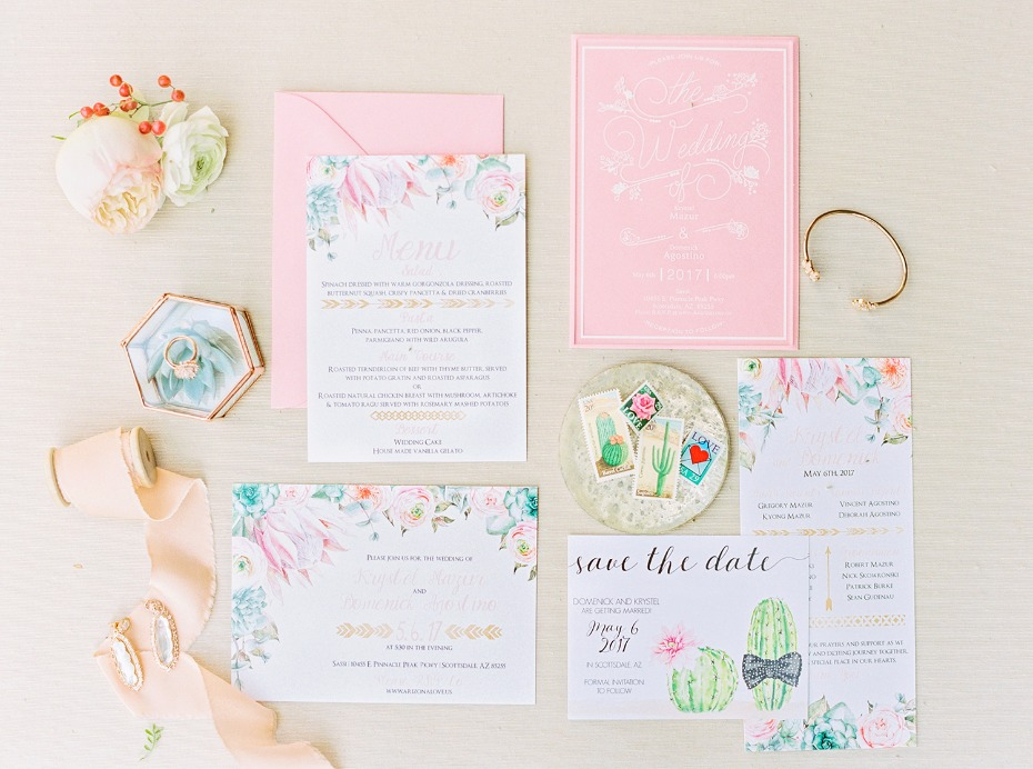 fun and vibrant wedding stationery