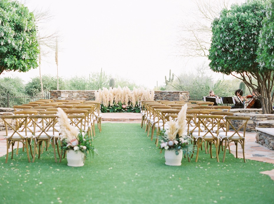 outdoor wedding ceremony idea