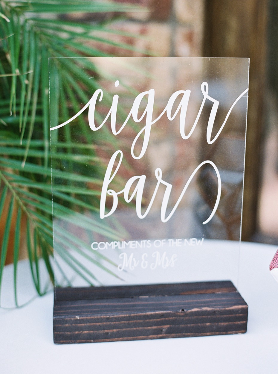 cigar bar wedding sign