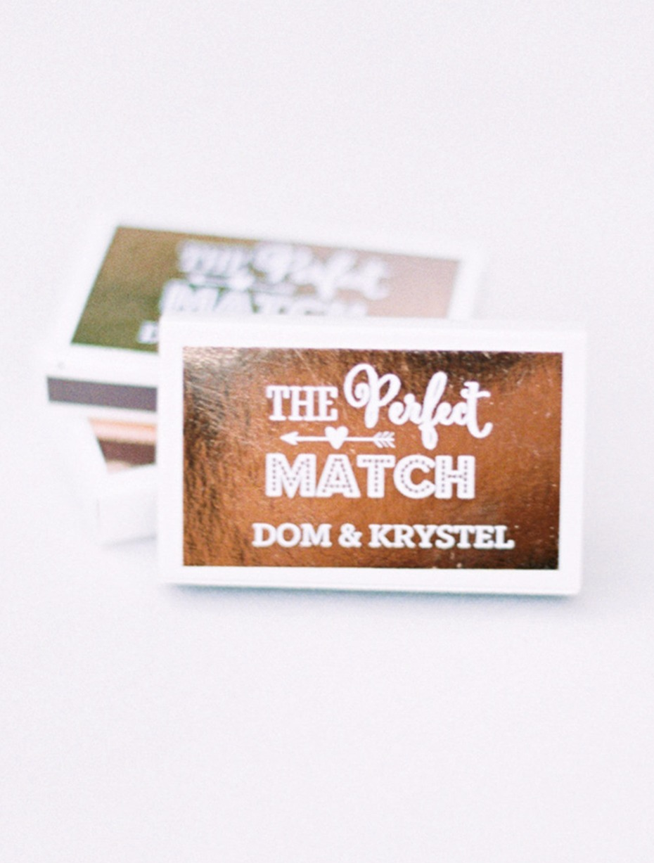 cute personalized match book favors