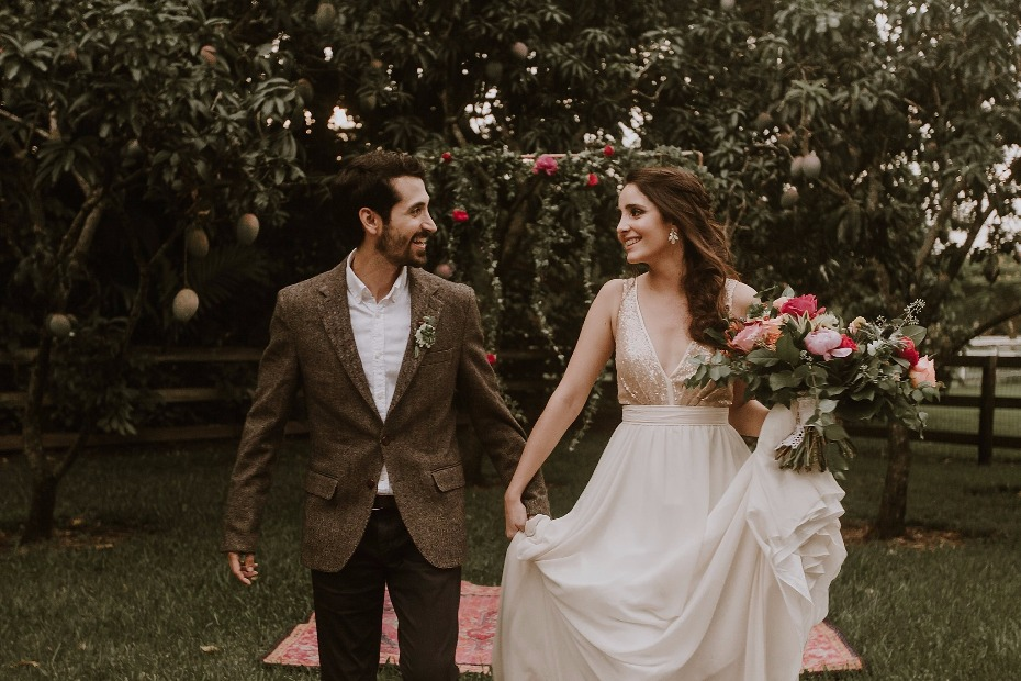 Colorful boho wedding ideas