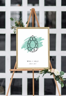 Custom Guest Book Art from Flutterbye Prints + Coupon Code