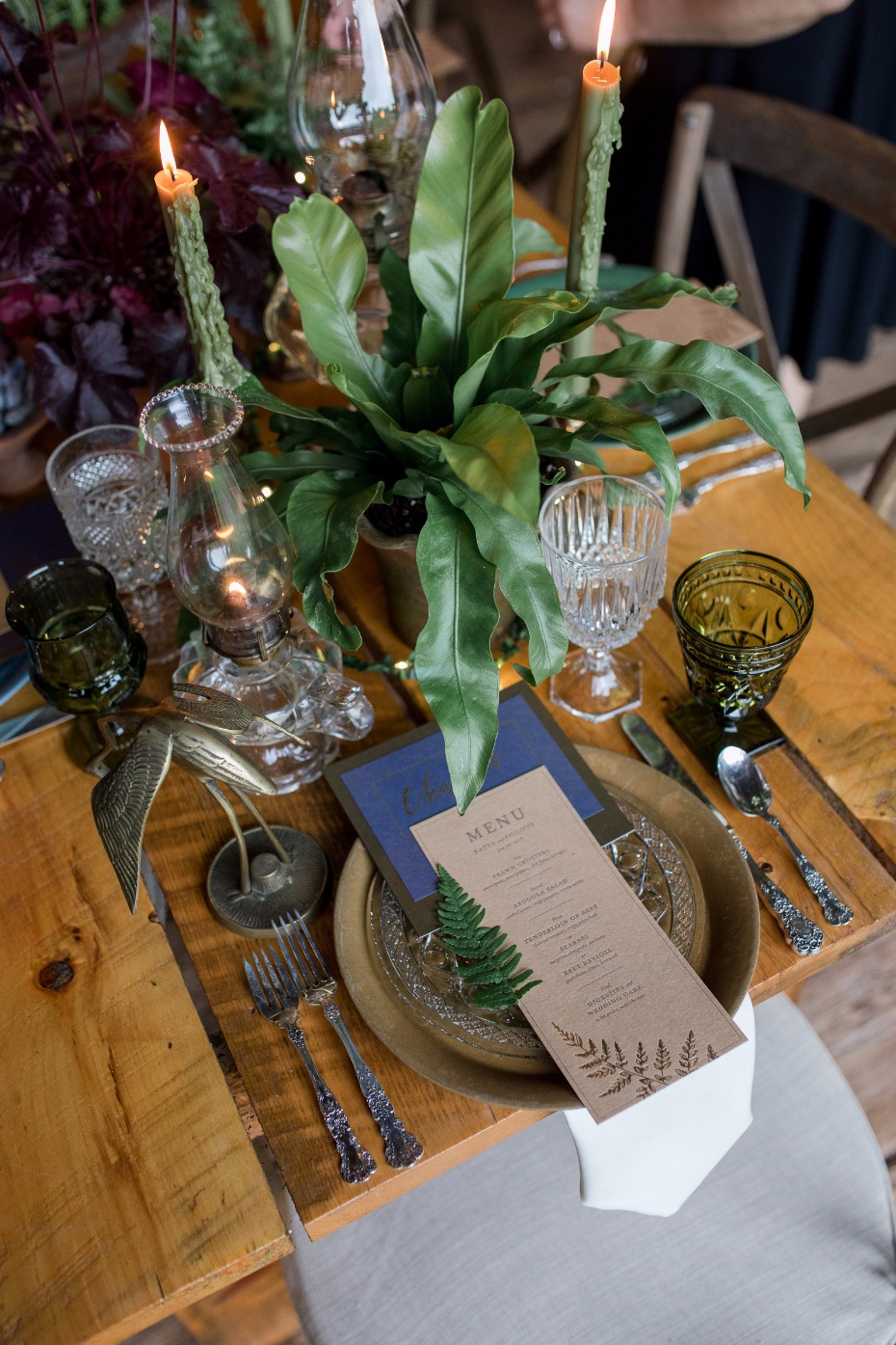 rustic chic wedding place setting for your farm house fall wedding