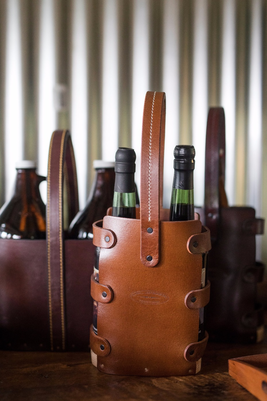 wine and growler caddies are the prefect groomsmen gifts